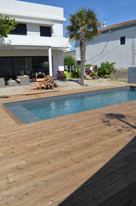 Plage de piscine en bois marseille brico jardin for Brico piscine