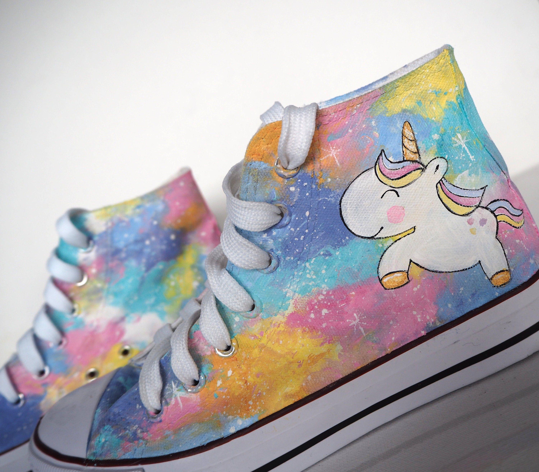 Custom handpainted unicorn shoes