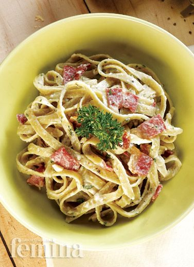 Fettucini Carbonara Fettucini Recipes Carbonara Recipe Cabonara Recipes