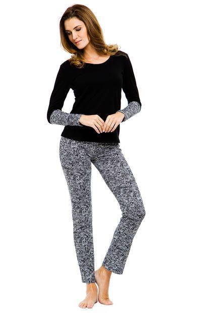 Pijama Negro Cocot Cebra