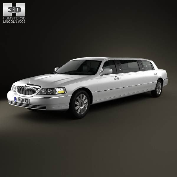 Lincoln Town Car Limousine 2011 3d model from humster3d.com. Price: $75