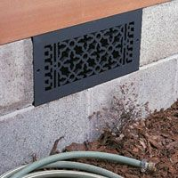 Metal Grille At Stem Wall Vent House Vents Crawl Space Vent