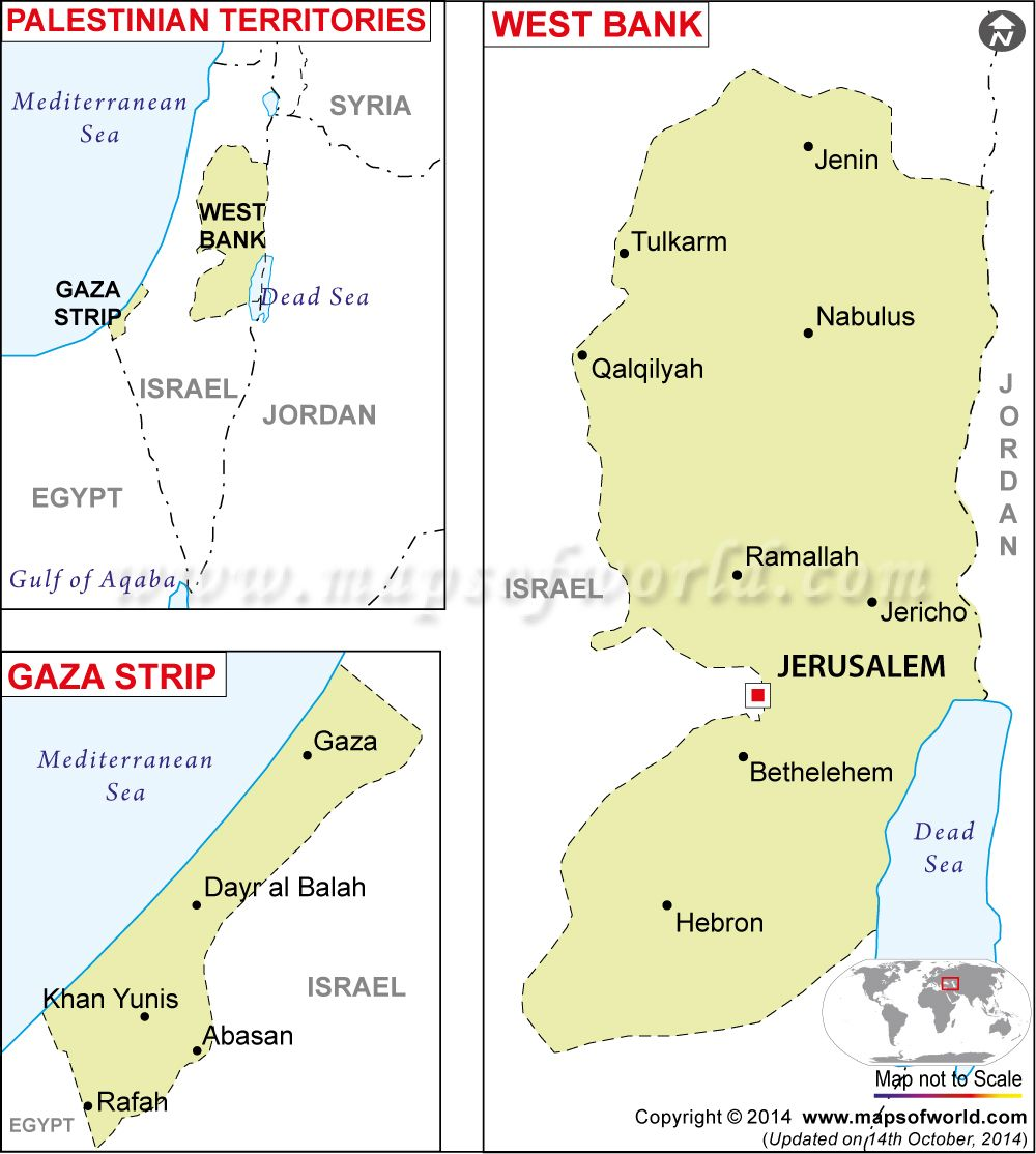 Palestine Map Map Of Palestine Palestine Map Political Map Palestine