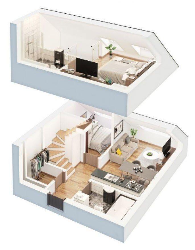 10 ideas de planos de casas que te ayudaran en el dise o for Construye tu casa en 3d