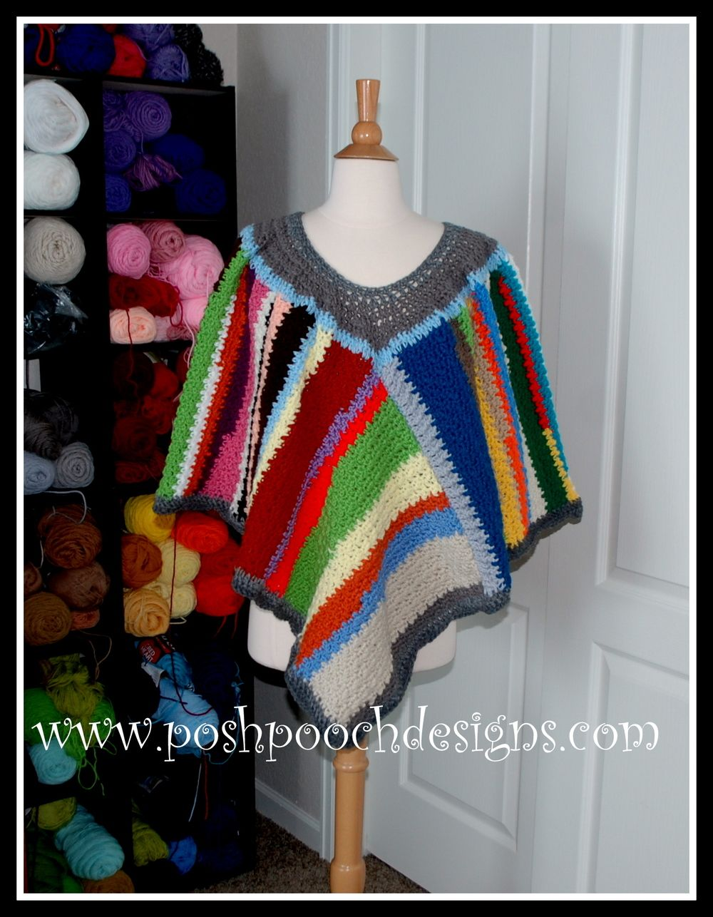 Scrap Happy Crochet Poncho | Crafts | Pinterest | Ponchos, Ponche y ...