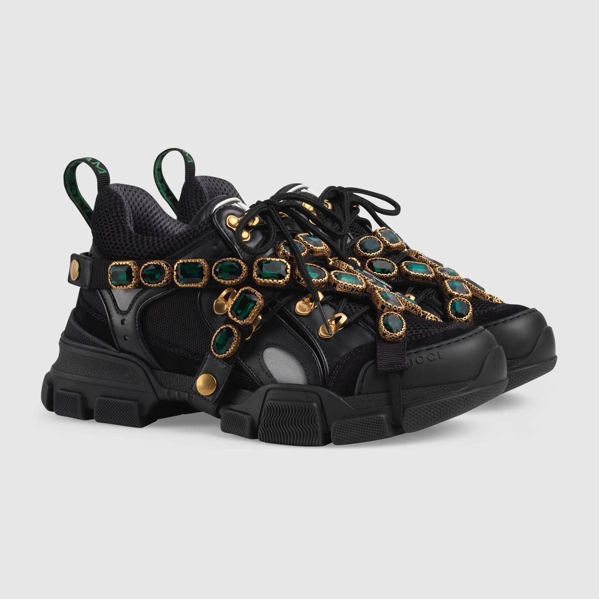 ad2a463ff Gucci Flashtrek sneaker with removable crystals Detail 2