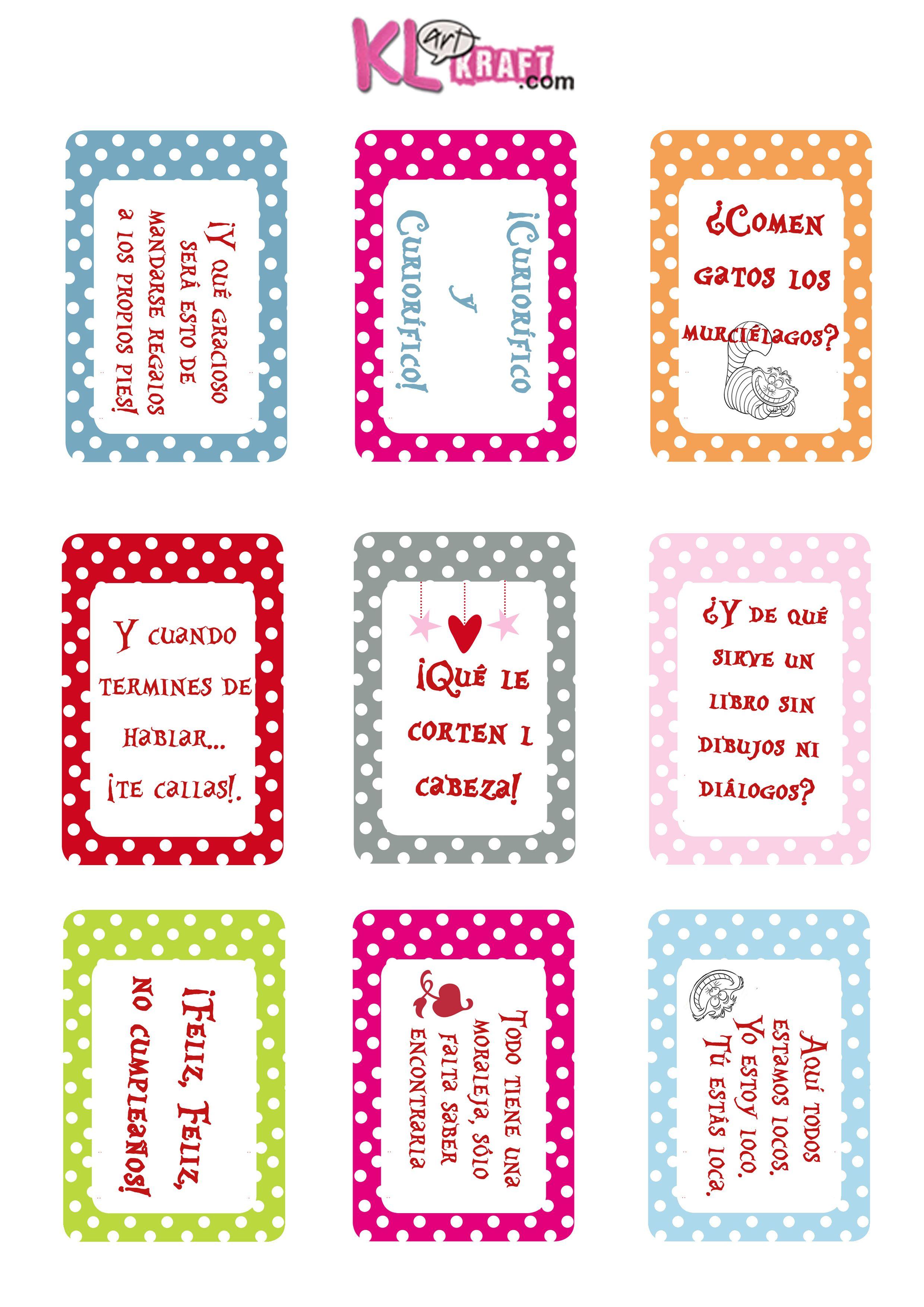 tarjetas alicia frases