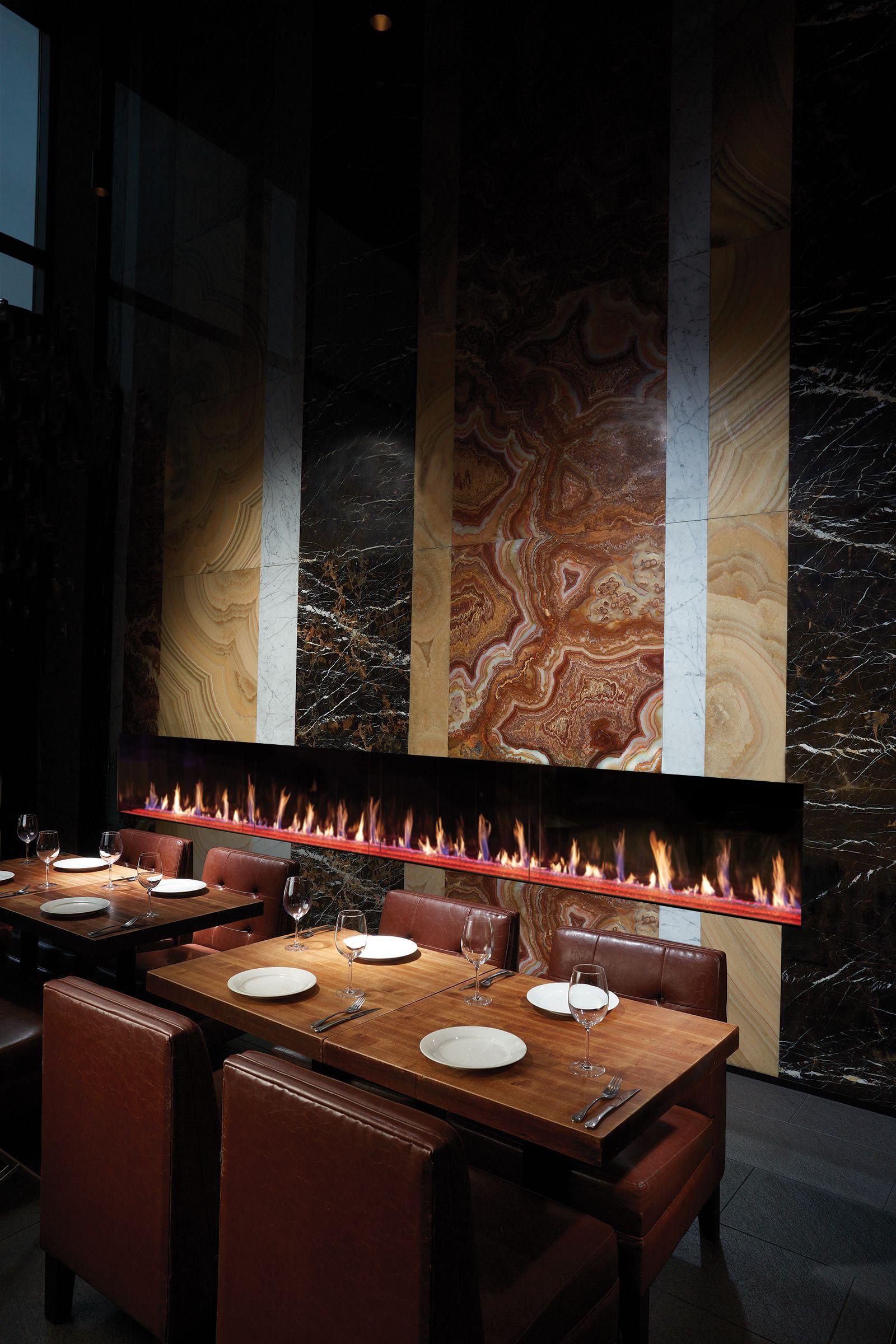Modern Linear Fireplace For Restaurant Fireplace Gallery Linear Fireplace Fireplace Design