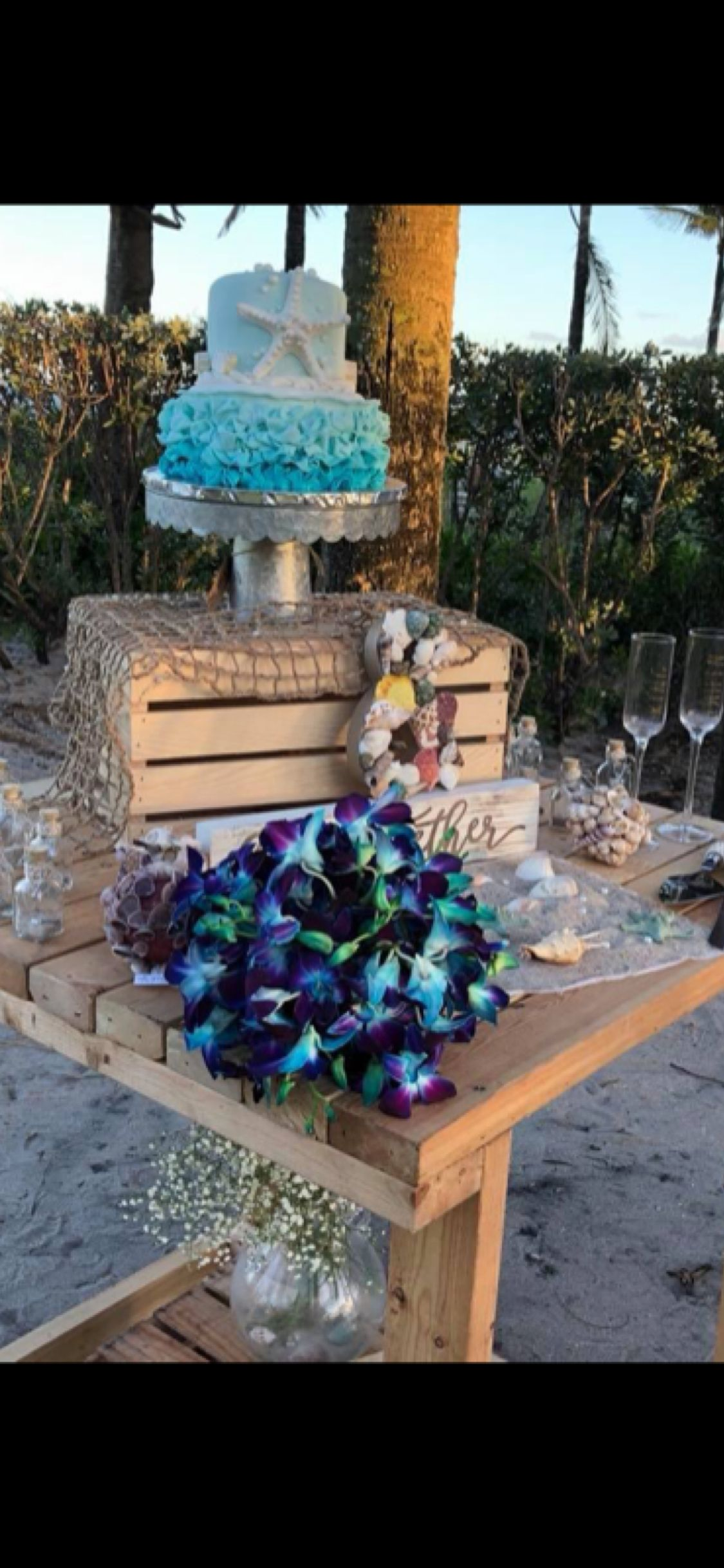 Cake table decoration wedding the beach pinterest
