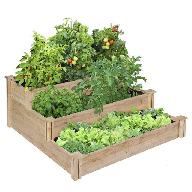 Tiered Cedar Raised Garden Bed Vegetable Garden Raised Beds Cedar Raised Garden Cedar Raised Garden Beds
