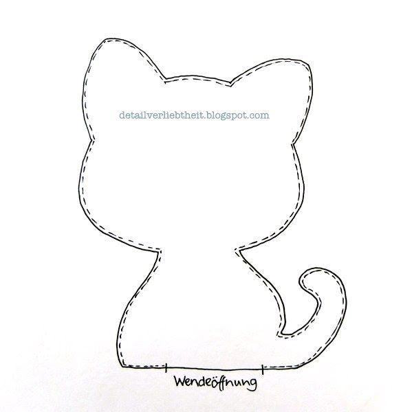 Selber Naehen Vorlagen: Detailverliebt: Katzenschnittmuster