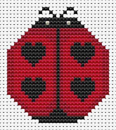 Sew Simple Ladybird cross stitch kit