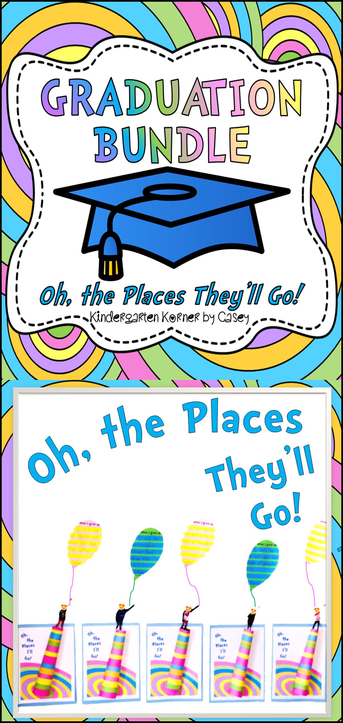 Graduation Mega Bundle Pre K Kindergarten Oh The Places