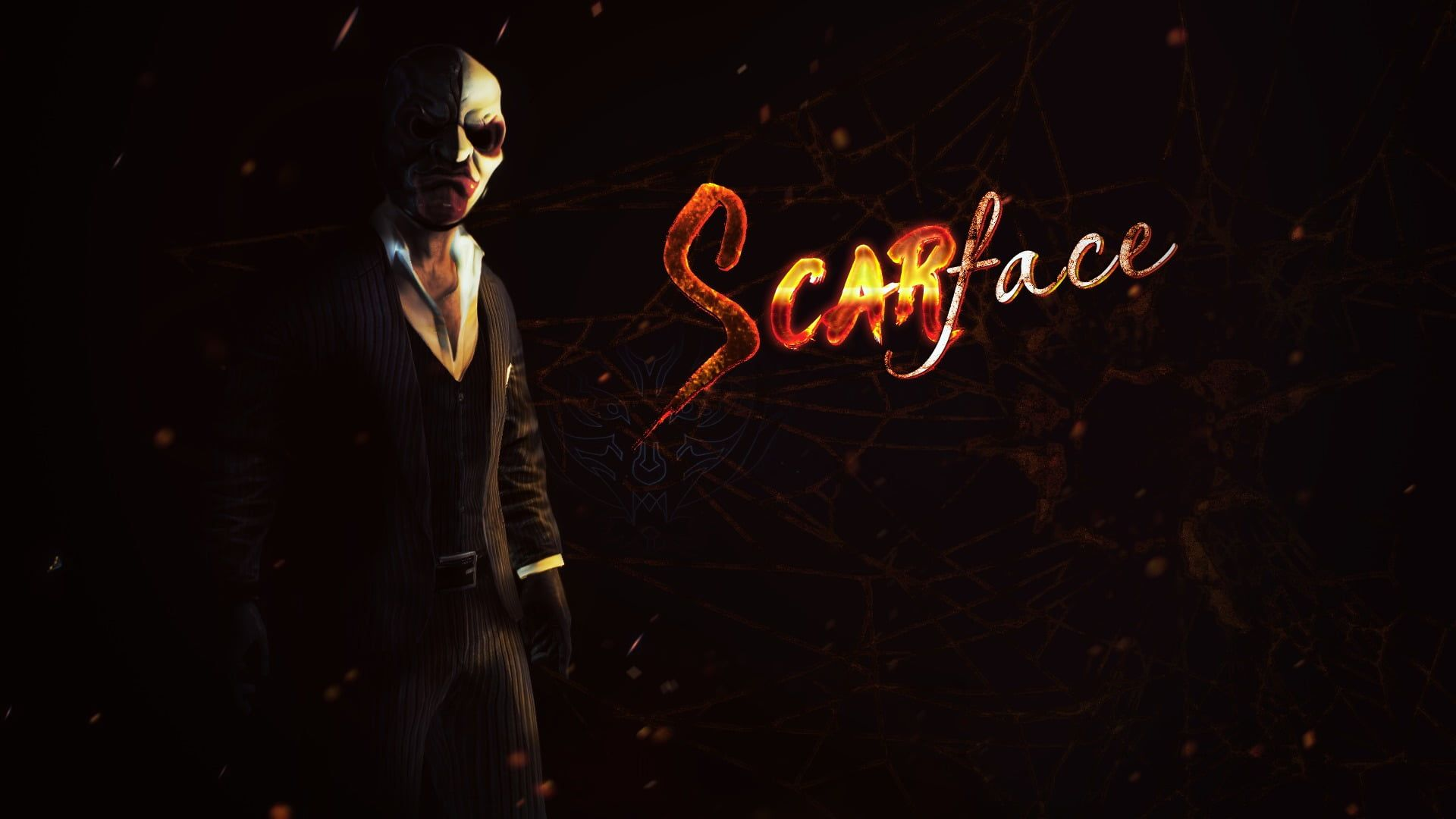 Payday 2 Video Games Scarface 1080p Wallpaper Hdwallpaper Desktop Macbook Desktop Hd Wallpaper Video Games