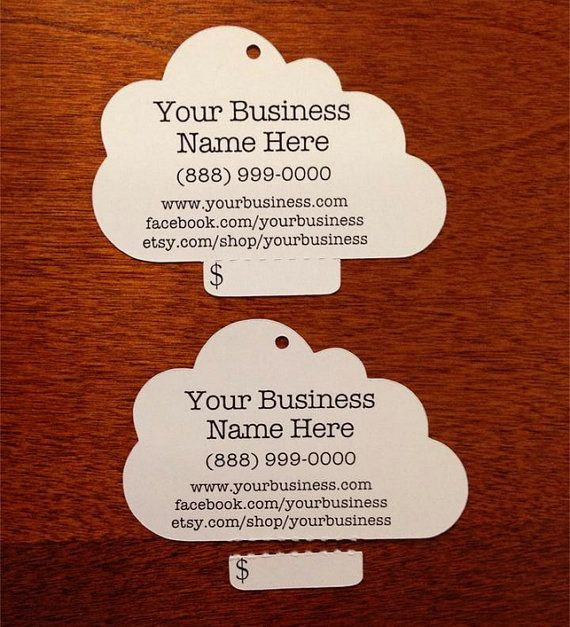 custom cloud perforated tear off price tags by kraftcuts kraftcuts