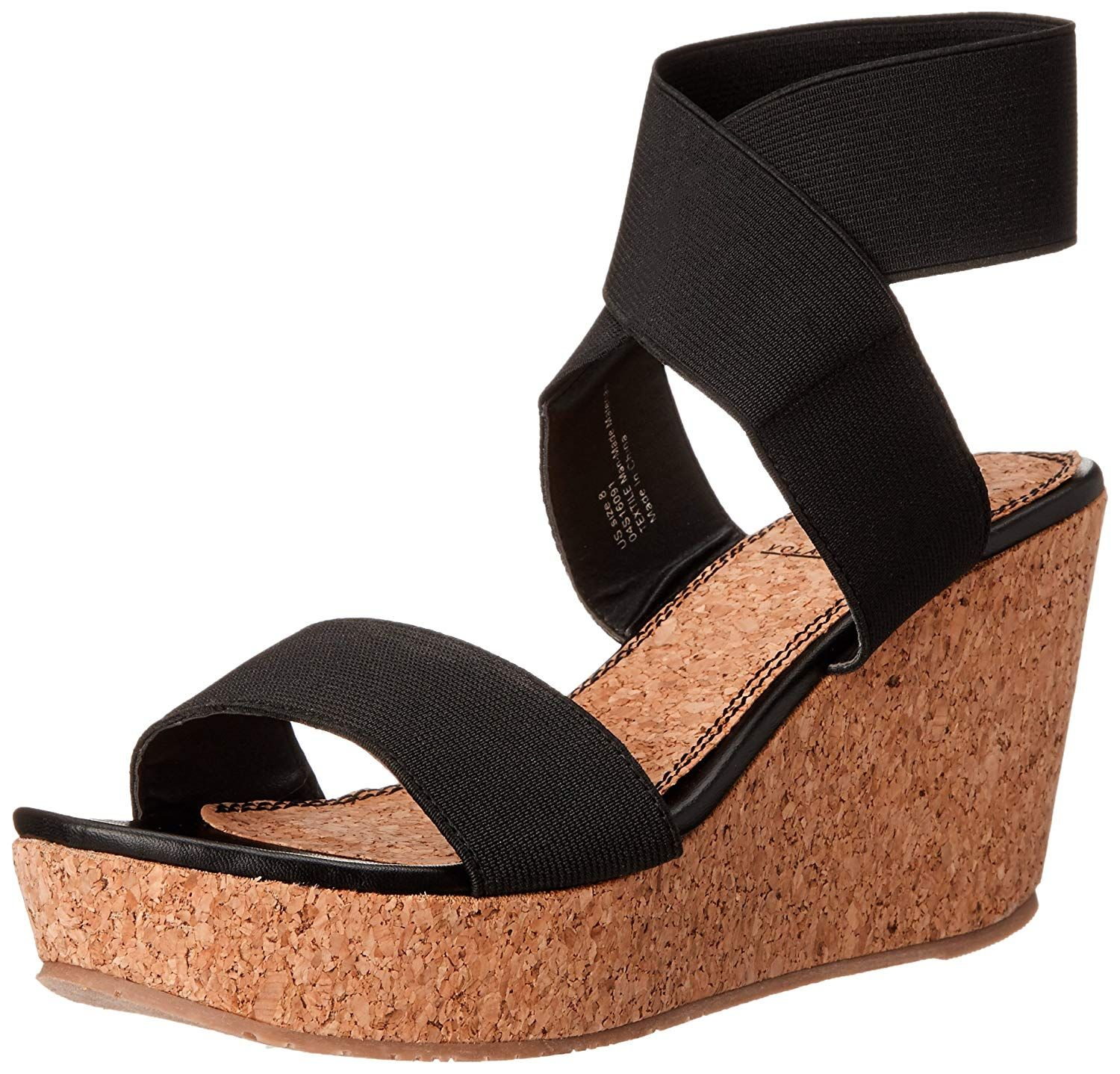 96294c688 Volatile Women s Mandaya Wedge Sandal. Criss cross with stretch upper on  mid wedge. Women s Shoes