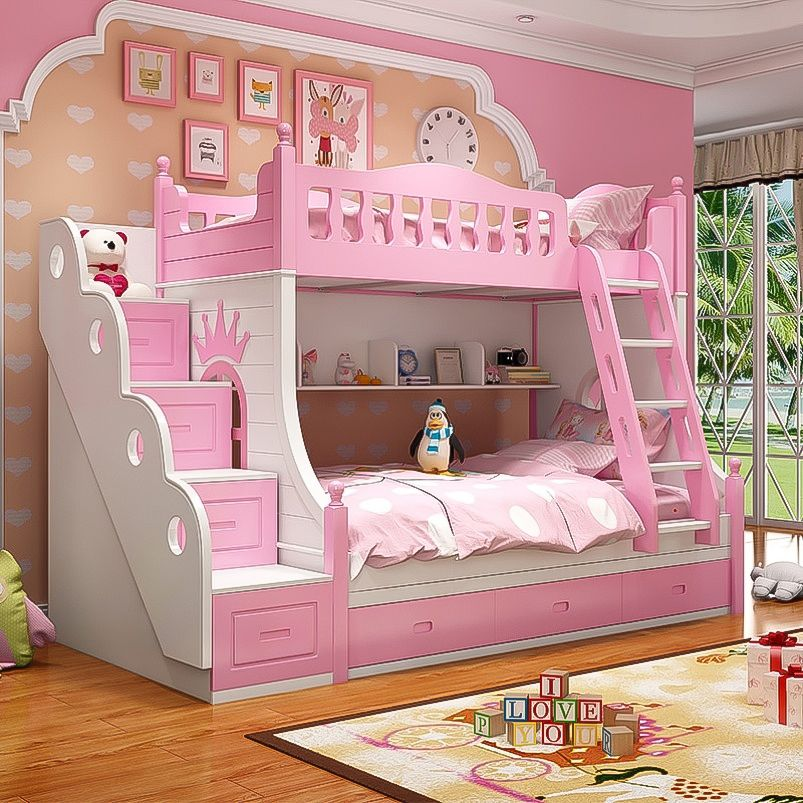 Factory Prices Cheap Children Bunk Bed With Ladders For Home Furniture Bedroom Furniture Https M Alibab Bed For Girls Room Princess Bunk Beds Girls Bunk Beds