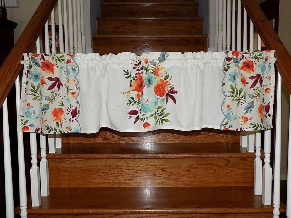 Pioneer Woman Willow Floral Valance Curtain Linens Cookware Utensils Measuring Pioneer Woman Kitchen Country Cottage Kitchen Valance Curtains