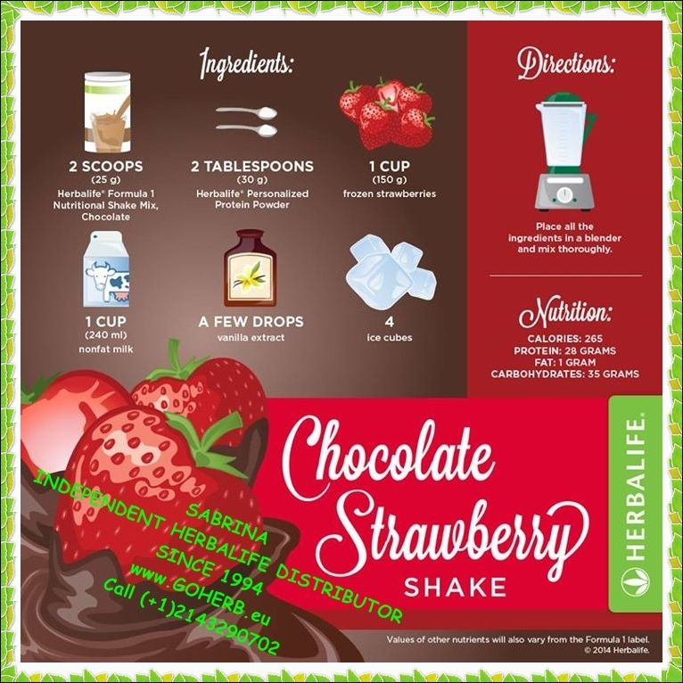 Enjoy Your Herbalife Formula 1 Protein Healthy Meal Shake Try A Different Recipe Every Day High In Nutrients And Low In Calories So Yummy An Herbalife Recipes