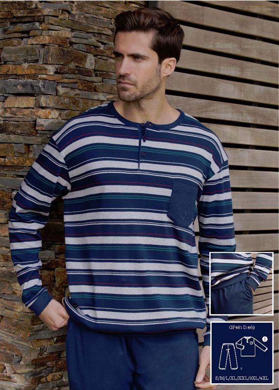 54f5e4369 Pijama Guasch Listado con puños | Pijamas hombre ♥ Varela Íntimo ...