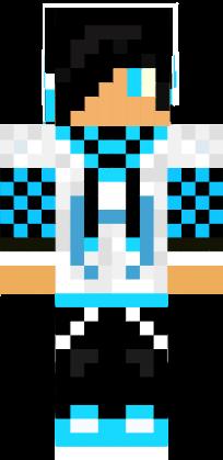 Blue Creeper Hoody NovaSkin Gallery Minecraft Skins Minecraft - Skin para minecraft pe creeper