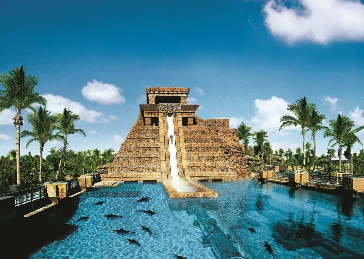 Water slide hotels the reef atlantis paradise island city bahamas
