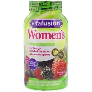 Vitafusion 女性用グミビタミン 天然ベリーフレーバー 150グミ 베리 비타민 건강한