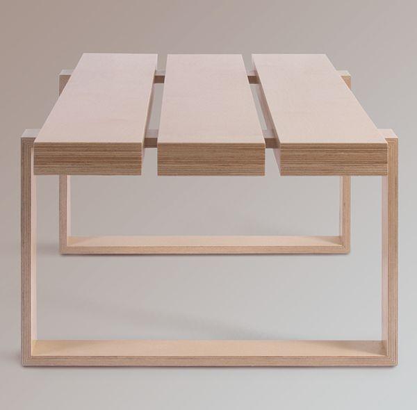 birch plywood coffee table plywood