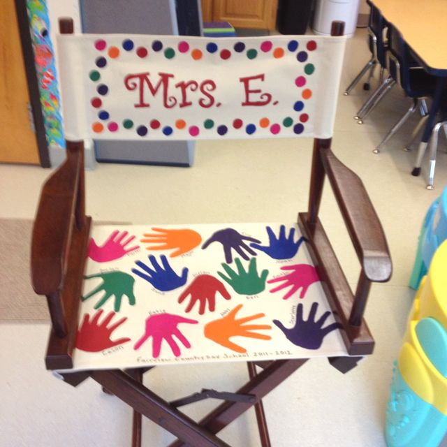 Director's chair I painted for our teacher for an End of ...