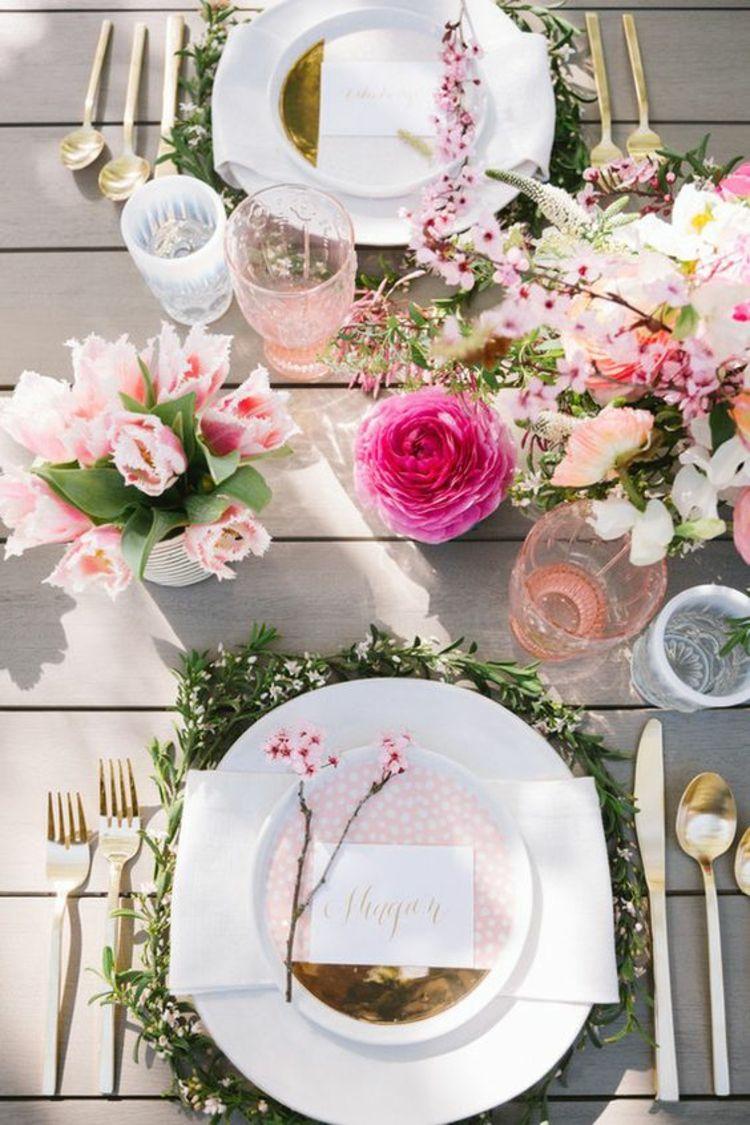 Tischdeko Gartenparty Deko selber machen Blumen ...