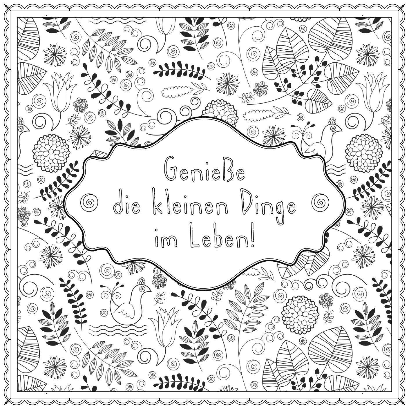 Augen zu und tanzen!: Wunderbare Zitate zum Ausmalen Malprodukte für ...