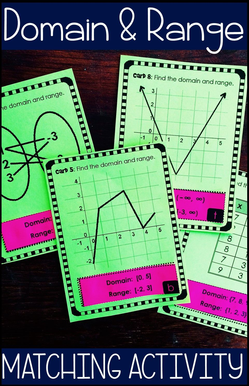 Domain And Range Matching Activity Print And Digital Algebra Activities Teaching Algebra Activities