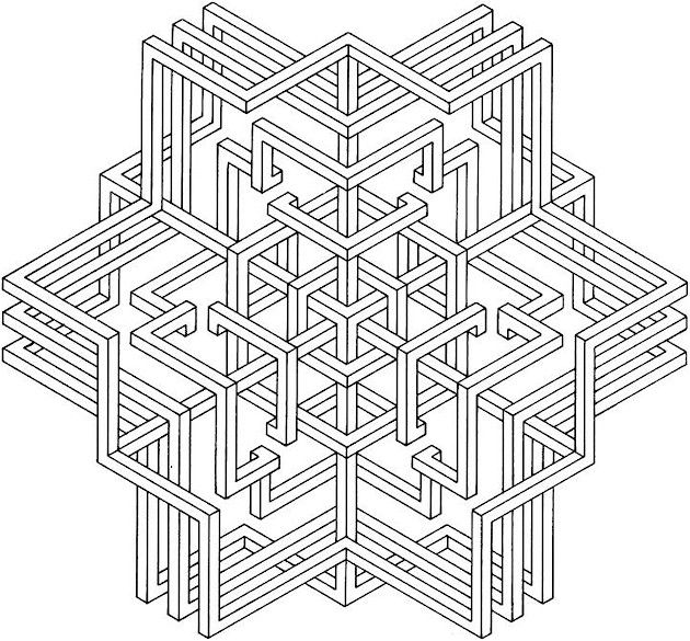 images of printable hard geometric coloring pages | Geometric ...