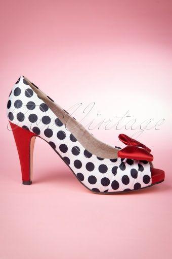 50s Olivia Peeptoe Red Bow Pumps | Pumps, Fashion, Shoes