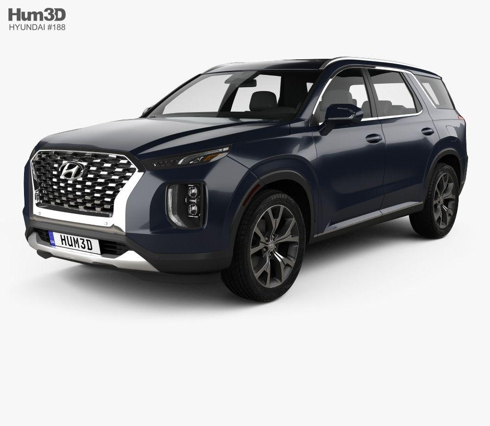 2020 Hyundai Palisade: Hyundai Palisade 2020 3d Model From Hum3d.com.