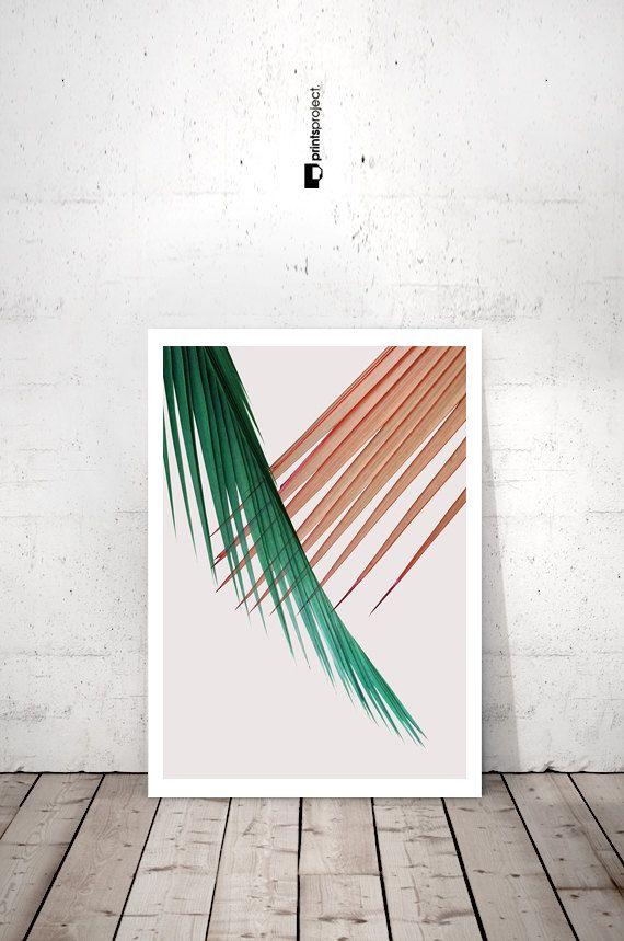 Palm Printable Art Palm Leaf Print Printable Leaf by PrintsProject