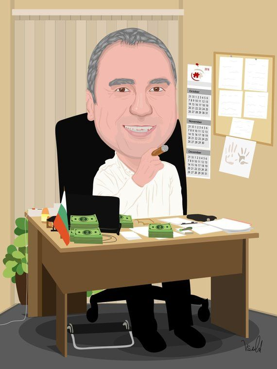 Custom Office Caricature Gift For Boss Idea Employees Retirement Farewell Coworker