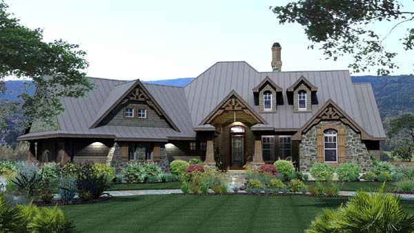 House Plan Chp 49218 At Coolhouseplans Com Tuscan House Plans Craftsman House Plans Craftsman Style House Plans