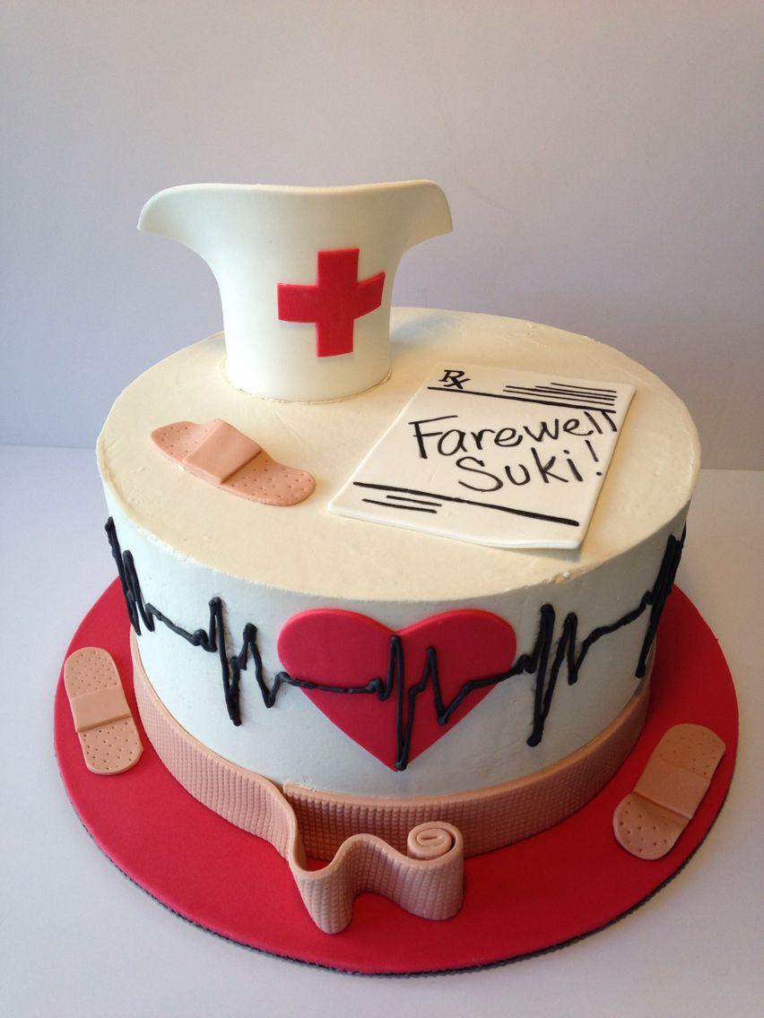 Nurse retirement cake my work wwwfacebookcomroyalicing1