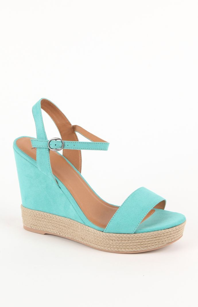 Black Poppy Mixed Espadrille Wedges Blackpoppy Pacsun