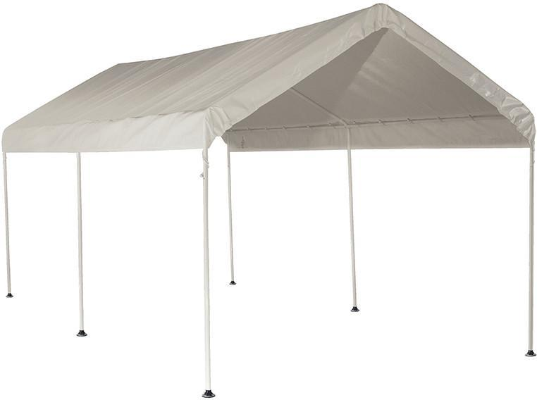Shelterlogic 25757 10 Ft X 20 Ft Canopy 1 3 8 In 3 Rib Frame White Cover White Canopy Canopy Yard Furniture
