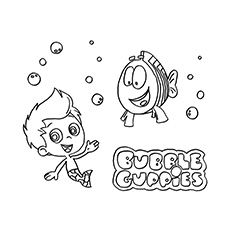 Bubble Guppies Coloring Pages 25 Free Printable Sheets Inkleur