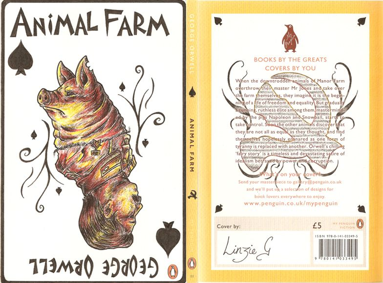 Animal Farm Penguin Book Cover Parody By Kagira Penguin Books Covers Book Cover Animal Farm George Orwell