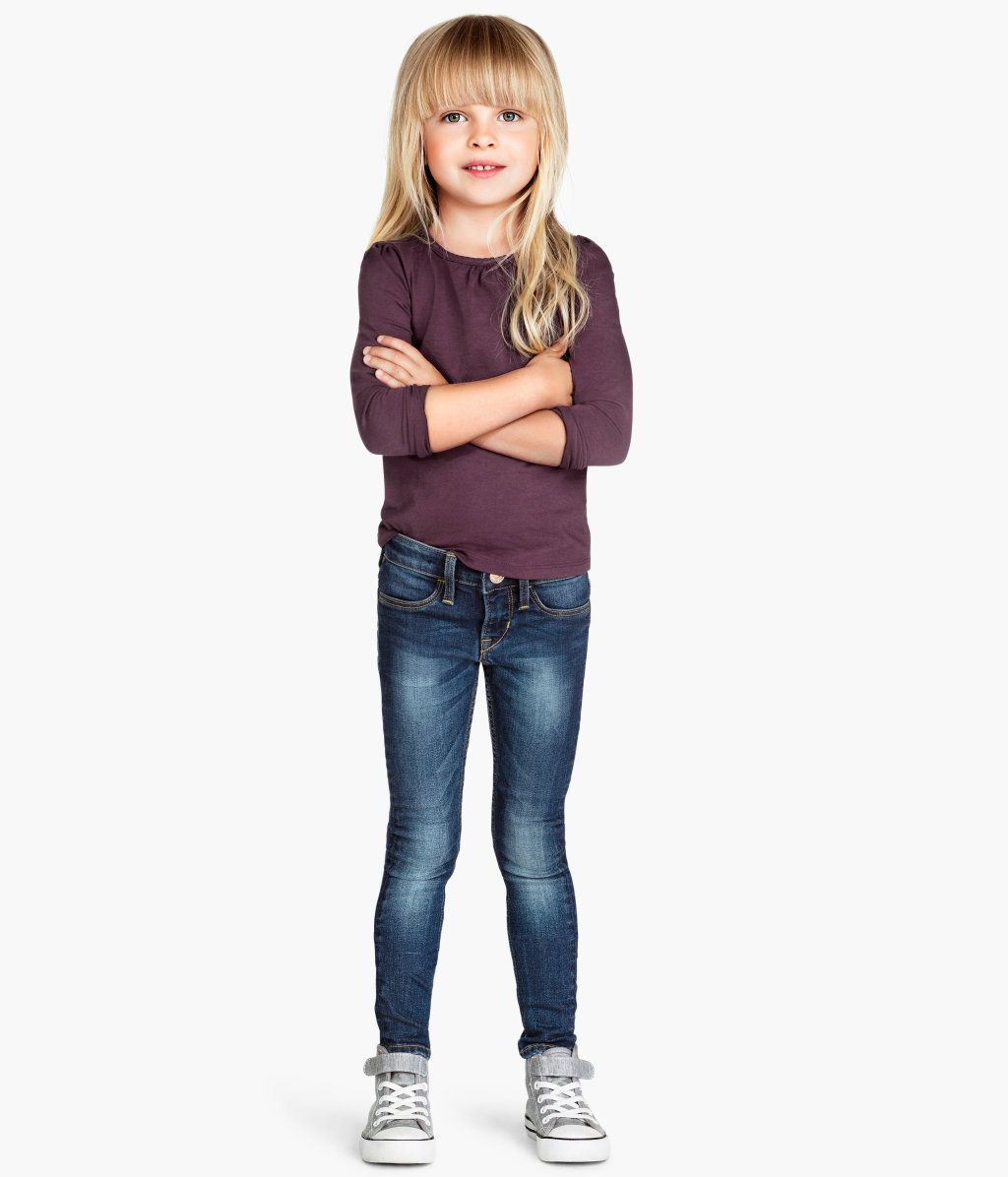 H M Skinny Fit Jeans 14 95 Little Girl Outfits School Girl Outfit Skinny Fit Jeans