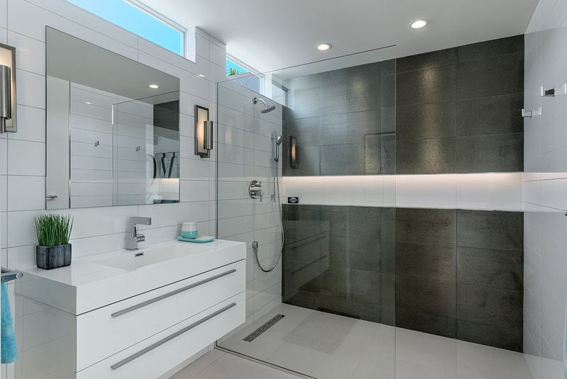 Modern Bathroom By H3k Design Cureless Shower With Full