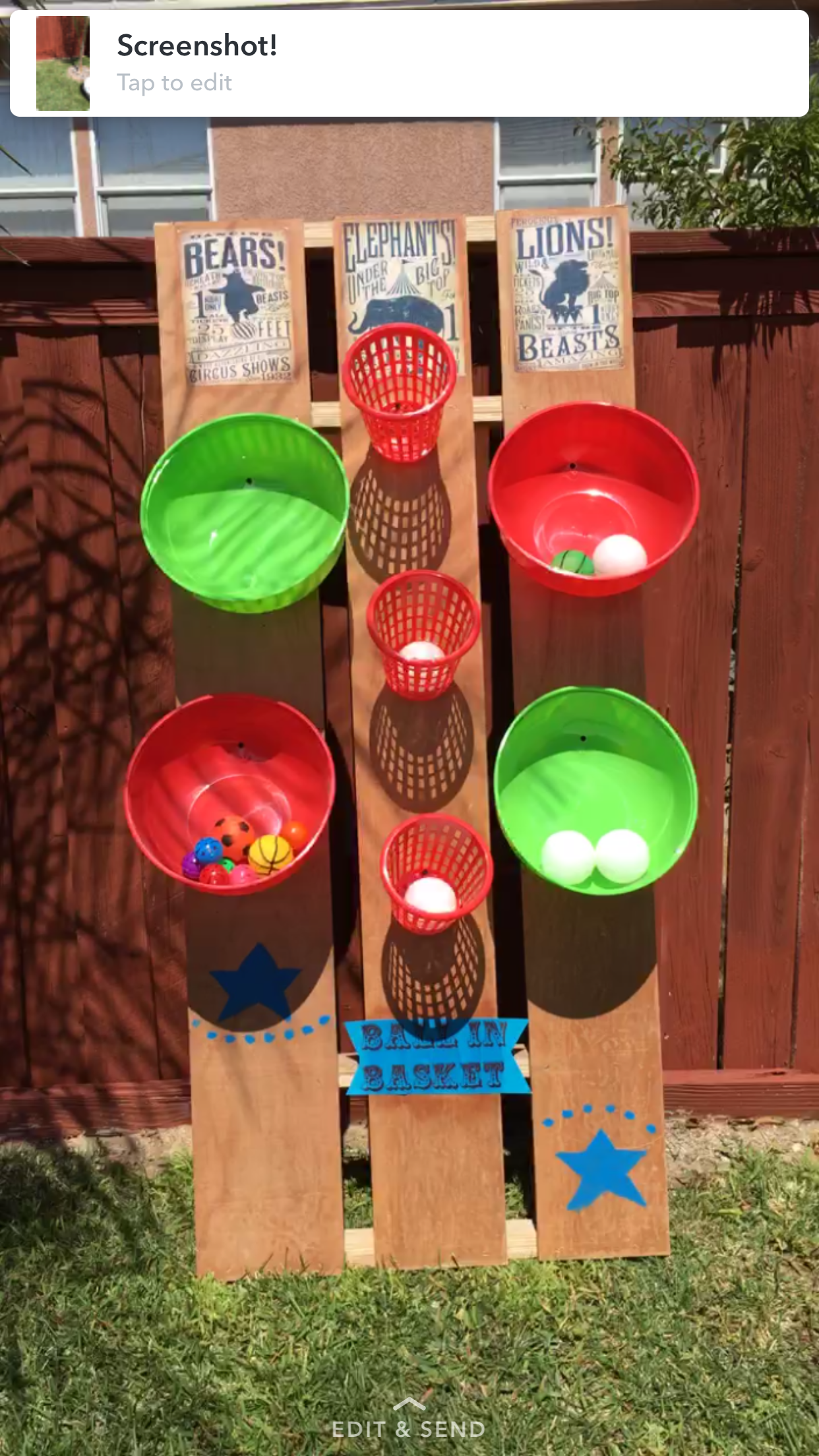 diy carnival game ball