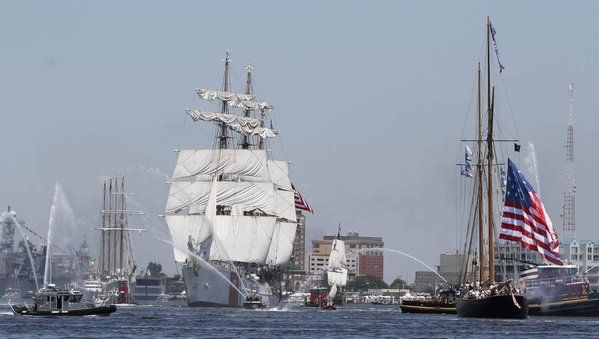 The flag of 1812 and a gathering of tall ships and other vessels in the Norfolk, Va., harbor marked the bicentennial of the War of 1812 last week.