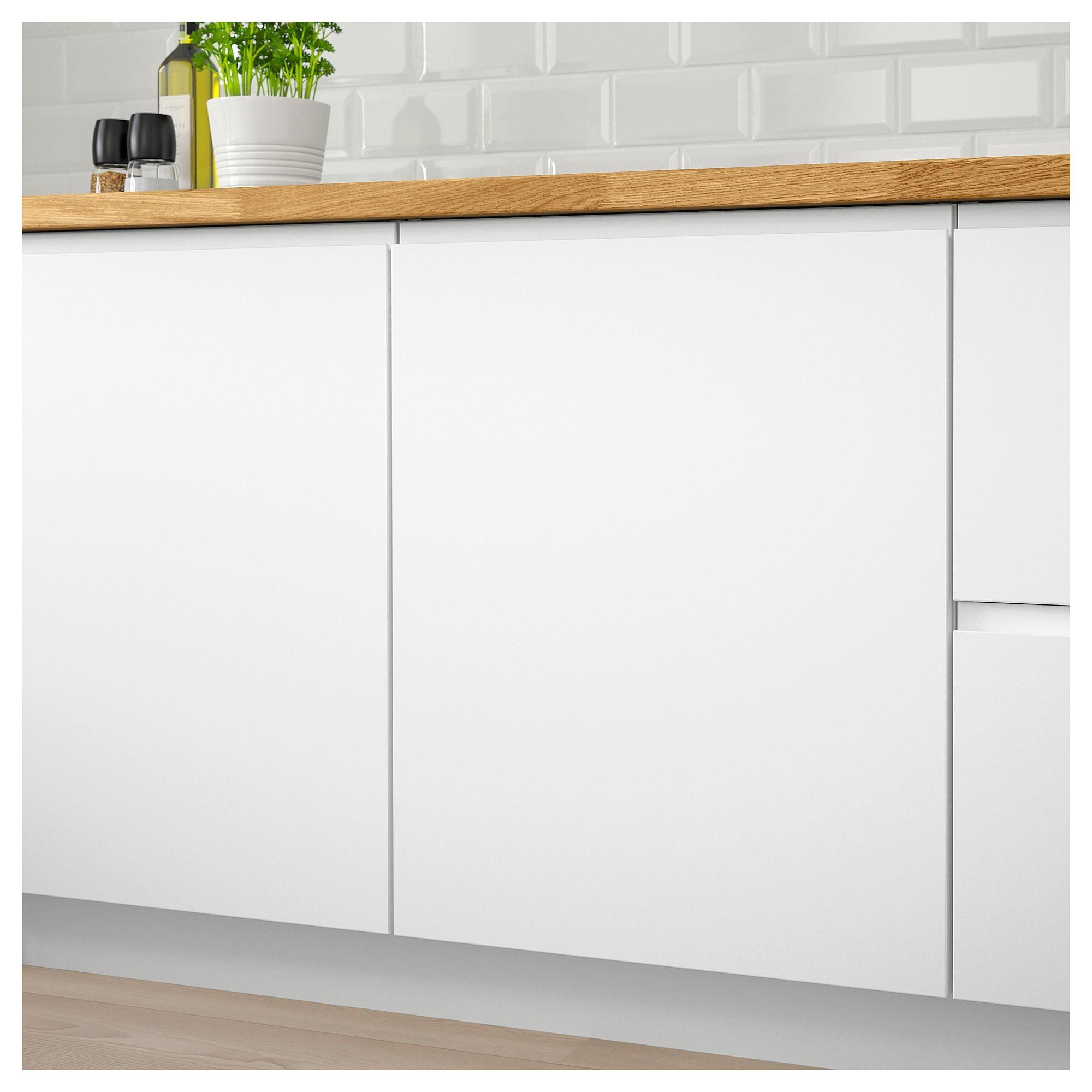 Download Wallpaper White Matt Kitchen Doors