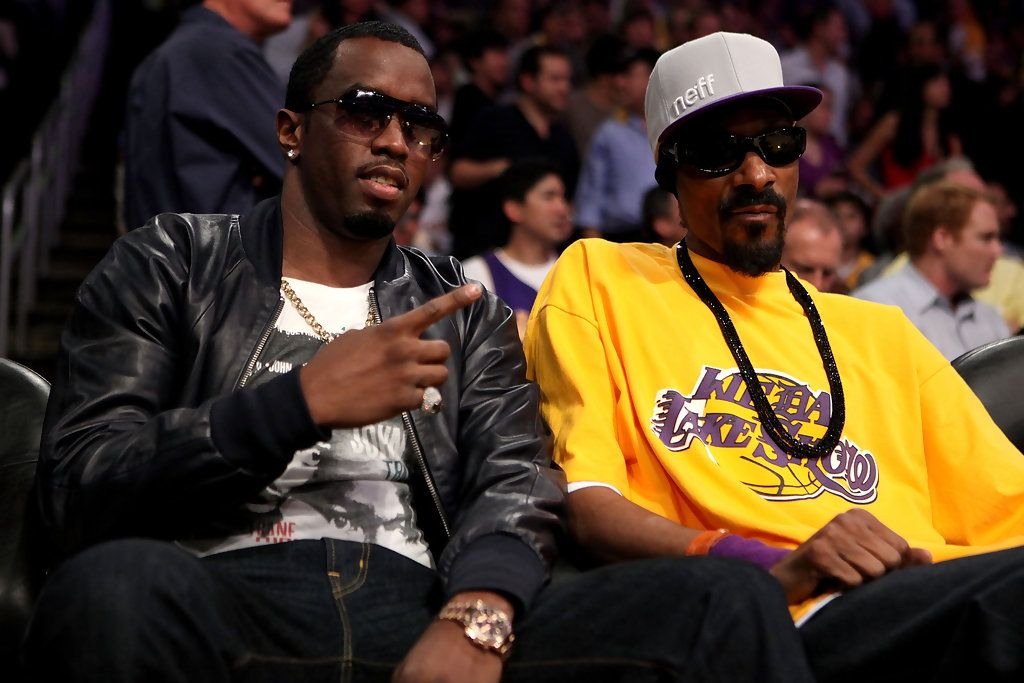 P  Diddy and Snoop Dogg at the Lakers Game in 2019 | Staples Center