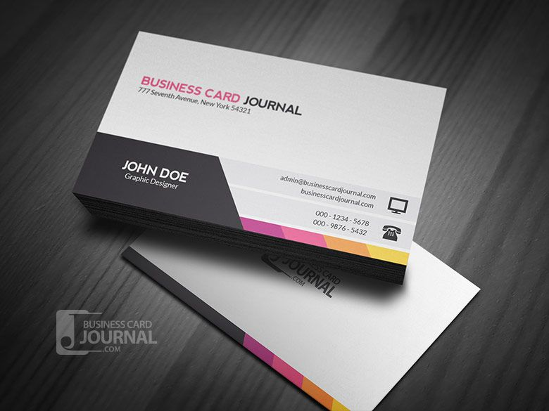 Unique modern corporate business card template for Modern business cards templates